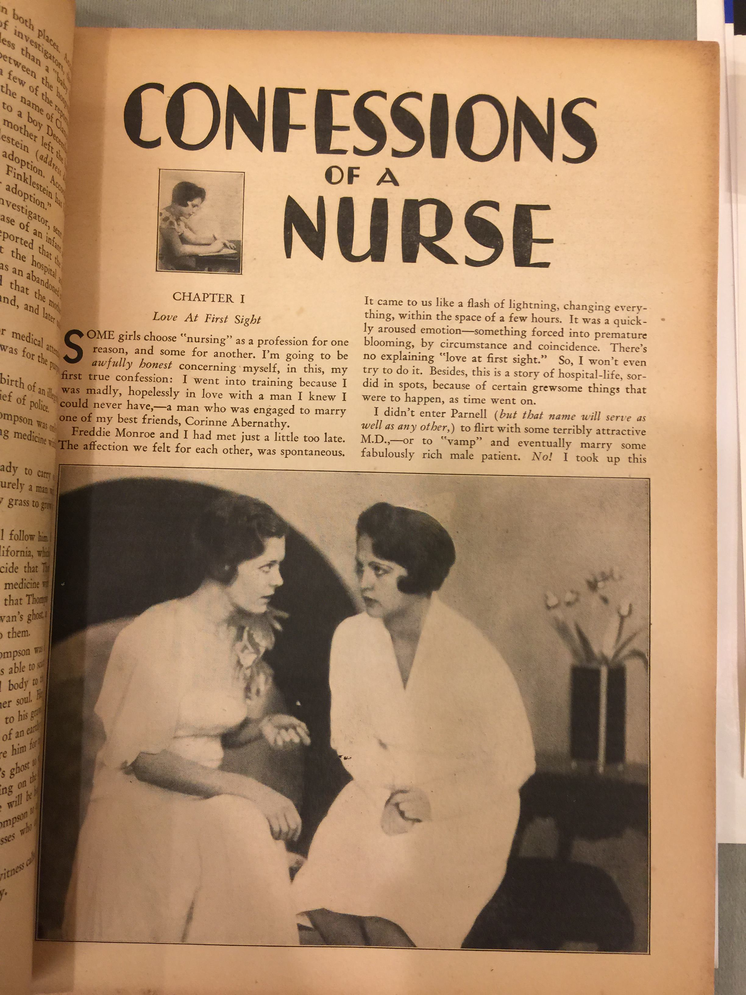 Confessions of a nurse, from Medical Horrors #1
